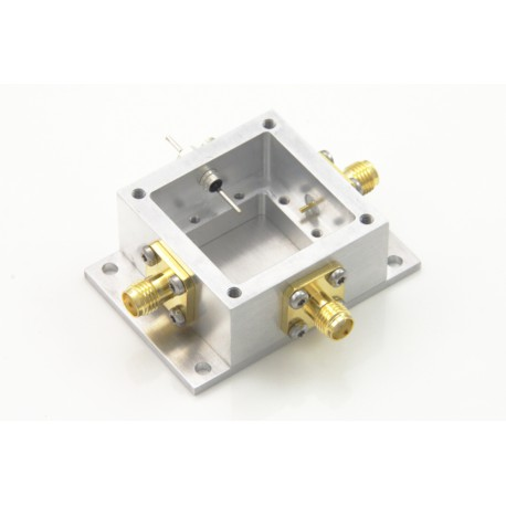 RF enclosure - mini - aluminium - with mounting flange