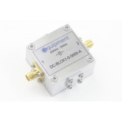 DC block 20 KHz - 5 GHz, aluminium enclosure
