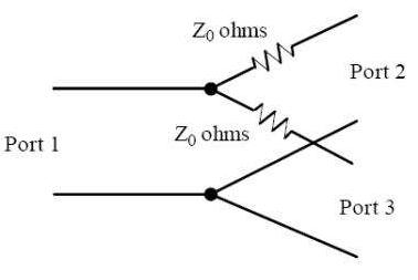 Power divider two resistor