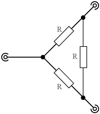resistive power splitter