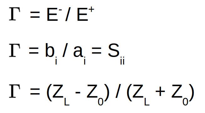 S-parameters transmission coefficient formulas